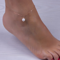 Pearl Ankle Chain Bracelet Anklets