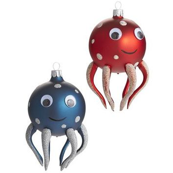 European Octopus Ornaments