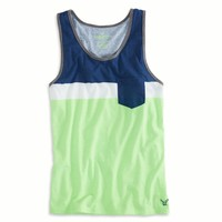 AEO Men's Colorblock Pocket Tank (Firefly)