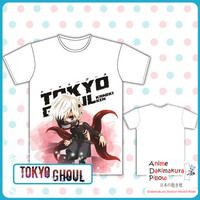 New Tokyo Ghoul Full Color Exclusive Anime Print Short Sleeve High Quality Soft Comfortable Tshirt MGF-102