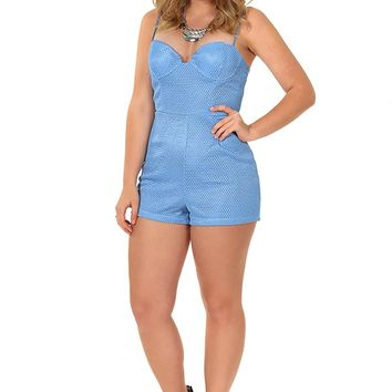 Into The Blue Romper: Powder Blue - Rompers & Jumpers - Bottoms - Hope's Boutique