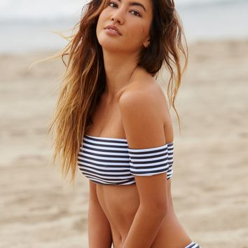 Free People Rose Stripe Bikini Top