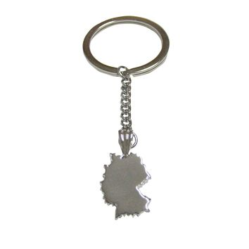 Germany Country Map Shape Pendant Keychain