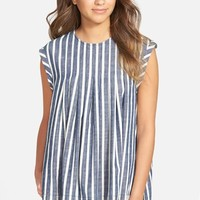 Women's Madewell Inverted Pleat Cap Sleeve Top,