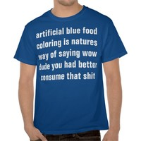 blue food coloring shirts