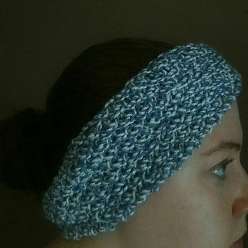 Ear Warmer Headband Knitted with Moss Stitch for Winter Womens Winter Headband