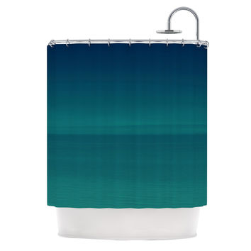 "Robin Dickinson ""When We're Together"" Teal Shower Curtain"