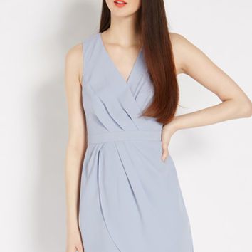 Caitlin Drape Crepe Shift Dress
