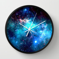 Blue Stars II Wall Clock