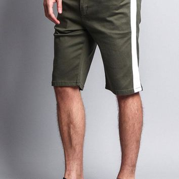 Men's Shorts with Accent Band DS2030 - F16D