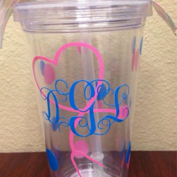 Personalized Nurse Heart Stethoscope Insulated Tumbler with Monogram - You choose your colors!