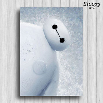 Baymax big hero 6 print disney watercolor art