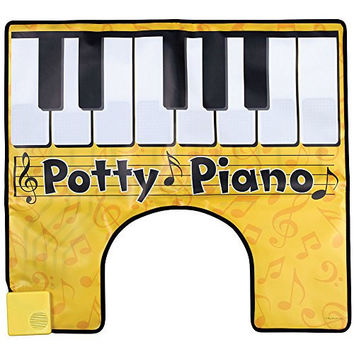 Potty Piano Bathroom Fun Toe Tapping Musical Keyboard Vinyl Toilet Floor Mat