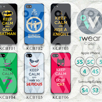 Batman Samsung Galaxy S4 Case, Samsung Galaxy S3 Case, Keep Calm and Carry On Samsung Hard Cases Rubber Case,Cover Skin S3 S4