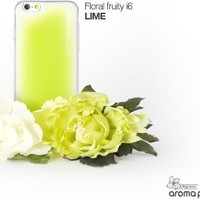 "Aroma Pooding Ipooding Reddot Design Awarded Patented Soft Grip 2 in 1 Case for Iphone 6 (4.7"")- Lime Color, Made in Korea"