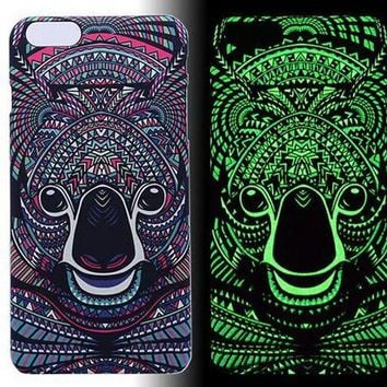 Bear Luminous Light Up Case Cover for iPhone 5s / iPhone 6s / iPhone 6s Plus-170928