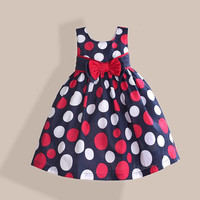 Red Dot Dress Summer Girl Red Kids Clothes by CasualQolbi