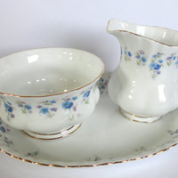 Royal Albert Cream Sugar Set Memory Lane