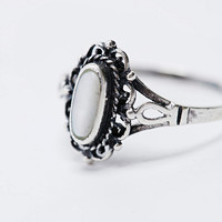 Sterling Silver Engraved Ring - Urban Outfitters
