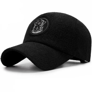 Crest Embroided Baseball Cap