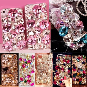 Glitter Rhinestone Case Cover For Samsung galaxy A5 2016 A510/A5+, Acrylic mobile phone shell Cover Diamond Phone Cases