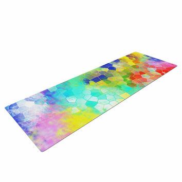 "Dan Sekanwagi ""Color Structure"" Colorful Abstract Yoga Mat"