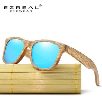 Men Wooden Polarized Sun Glasses