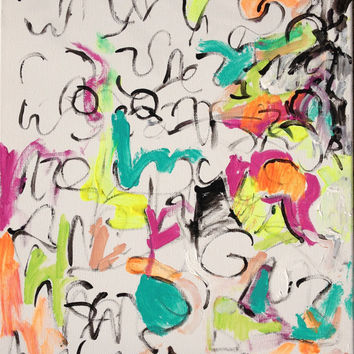 Abstract Expressionism Painting, Gestural Writing 7.8.14