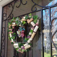 Heart shaped wine cork wreath