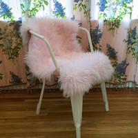 FAUX FUR SHEEPSKIN Rug, Chair cover or Pet Bed.  Custom Pastel Colors of Your Choice . Faux Fur Rug . Chair Cover or Pet Bed.