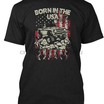1966-77 Ford Bronco Offroad 4X4 Truck T-Shirt Mens Born In The USA Tee New