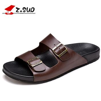 Genuine Leather Men's Slippers