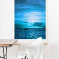 Deb Haugen paddling on Art Print And Hanger