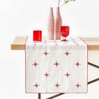 GEOMETRIC EMBROIDERED LINEN TABLE RUNNER - TABLE RUNNERS - KITCHEN & DINING | Zara Home United States of America