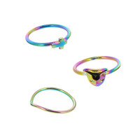 Midi Kitty Ring Set