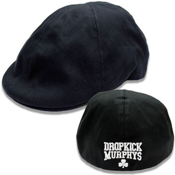 Dropkick Murphys Men's  Shamrock Scally Ivy Cap Black