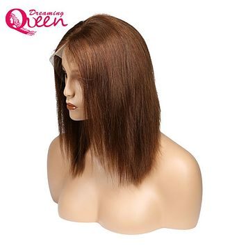 Dreaming Queen Ombre Color Black 1b 613 Blonde Lace Front Human Hair Wigs For Women Remy Hair Short Cut Bob Wig Natural Hairline