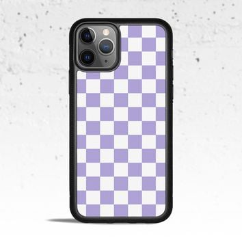 Checkerboard Violet Phone Case Cover for Apple iPhone Samsung Galaxy S & Note