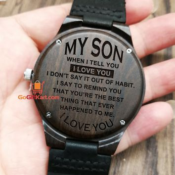 Son Love You Wooden Watch