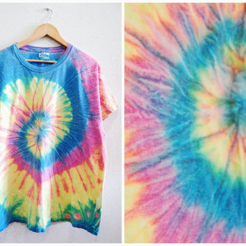 90s Pastel Grunge Tie Dye T-Shirt,Sea Punk Shirt