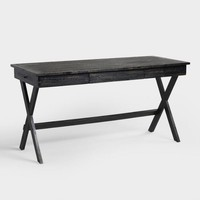 Black Wood Campaign Desk