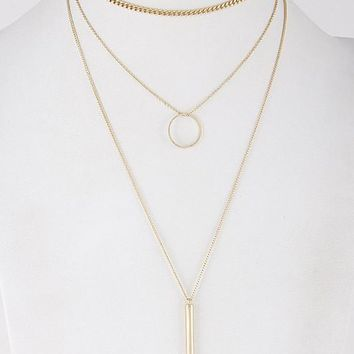 Layered Choker Necklace - 2 Colors