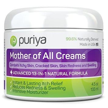 Cream For Eczema, Psoriasis, Rosacea, Dermatitis, Shingles and Rashes. Powerful 13-in-1 Natural Formula Provides Instant and Lasting Relief For Severely Dry, Cracked, Itchy, or Irritated Skin