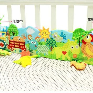 Multifunctional Cartoon animal baby  bed around infant cloth books with safety mirror teether  0-1 year old inant  toy