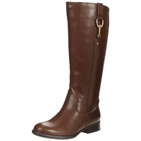 LifeStride Womens X-Ibit Faux Leather Knee-High Riding Boots