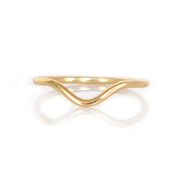 14kt Gold Arc Ring