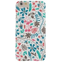 Retro Floral Pattern Barely There iPhone 6 Plus Case