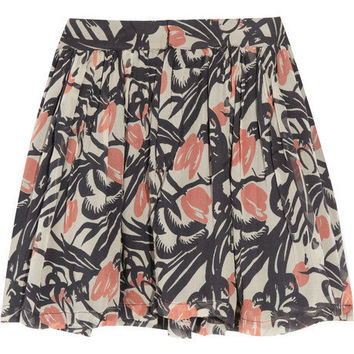 Winter Kate Callix printed silk-georgette skirt - 60% Off Now at THE OUTNET