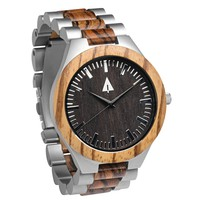 Silver Stainless Zebrawood Theo