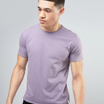Brave Soul Basic Raw Edge T-shirt at asos.com